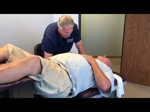 Little Rock Arkansas Man Gets Adjusted By Houston Chiropractor Dr Johnson