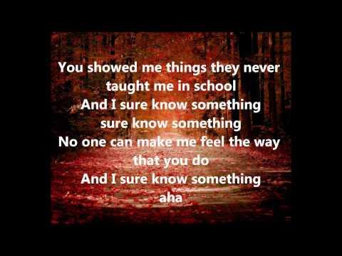 KISS -Sure Know Something (Lyrics)