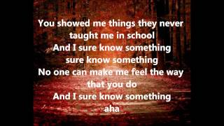 KISS -  Sure Know Something (Lyrics)