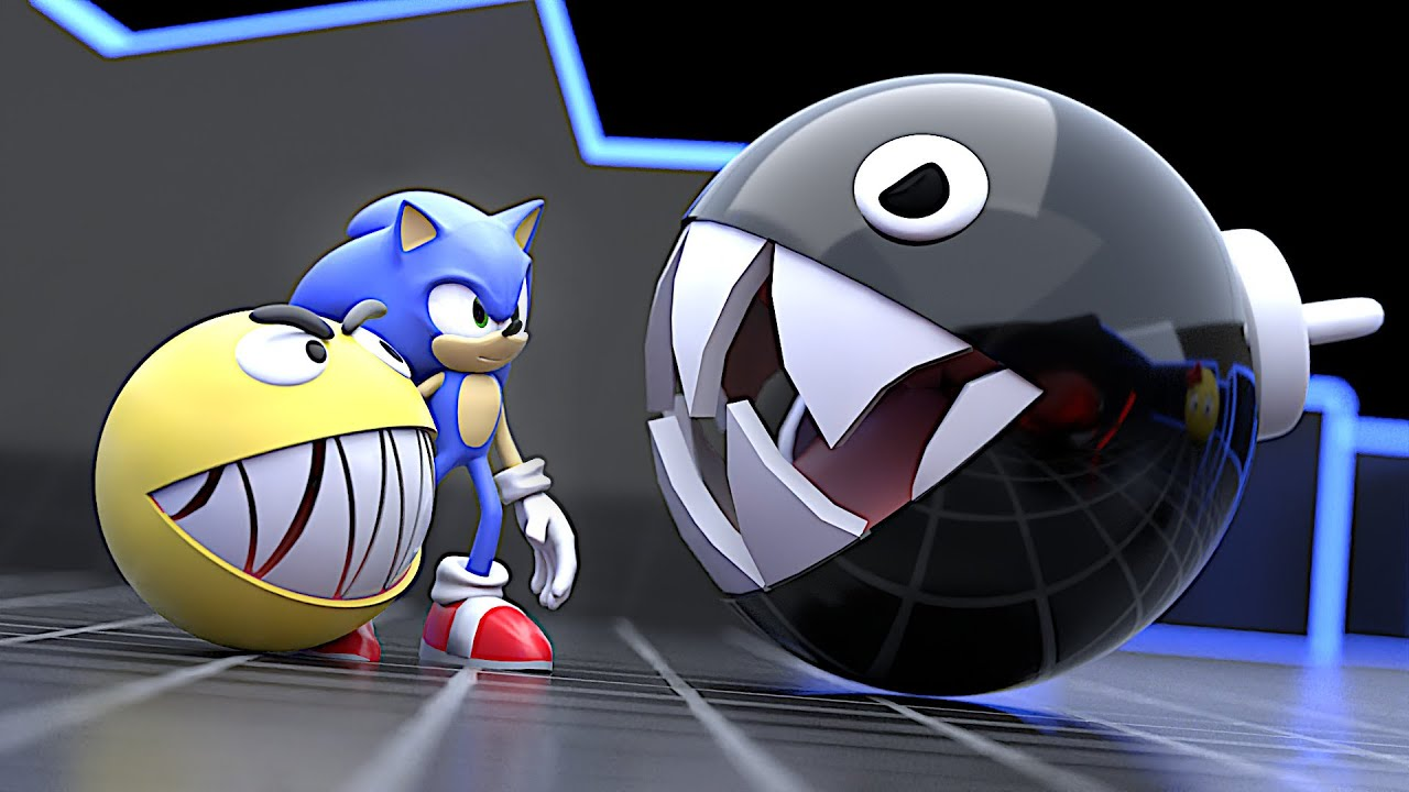 Pacman Maze Mayhem part 3   Pacman and Sonic rescue Ms Pacman