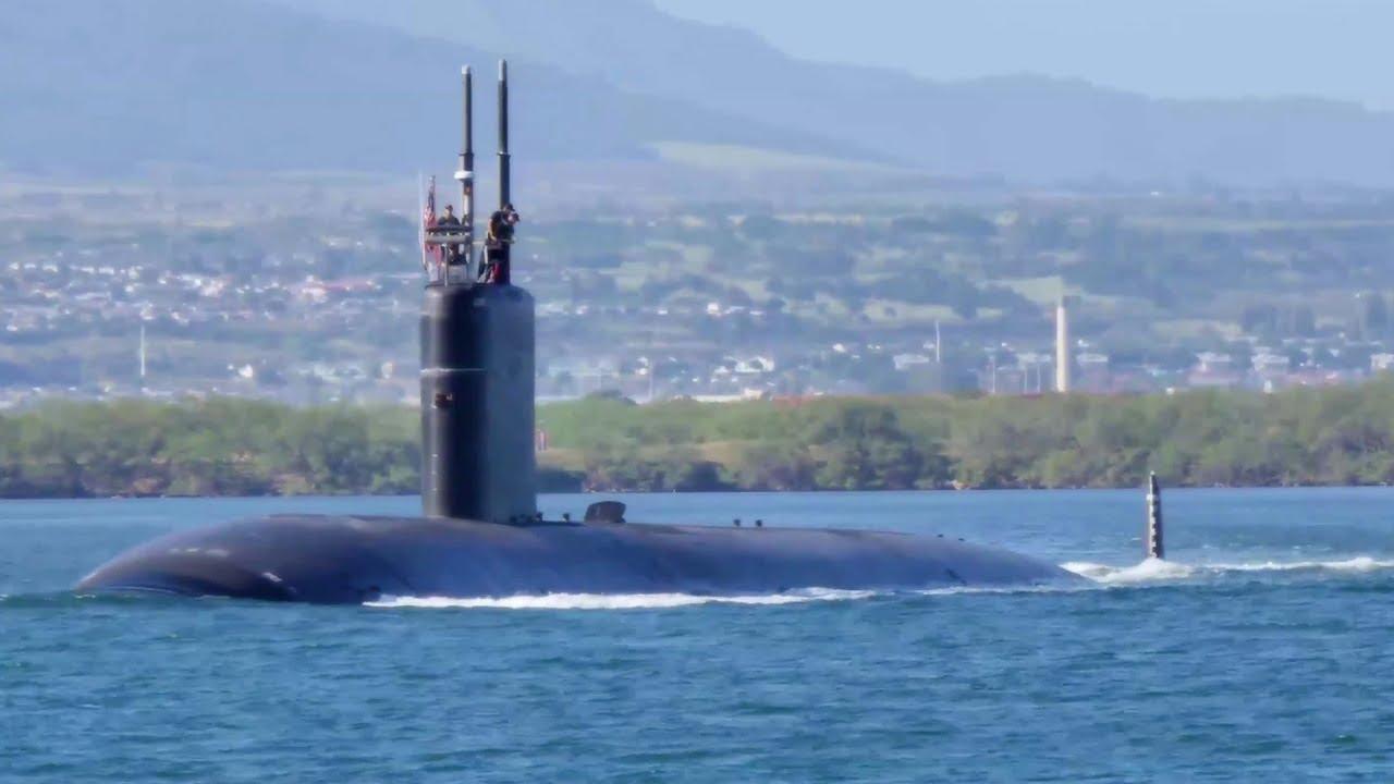 Los Angeles-class Fast Attack Submarine USS Santa Fe (SSN 763) Departs  Pearl Harbor