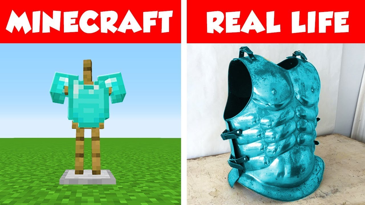 DIAMOND CHESTPLATE IN REAL LIFE Minecraft vs Real Life animation
