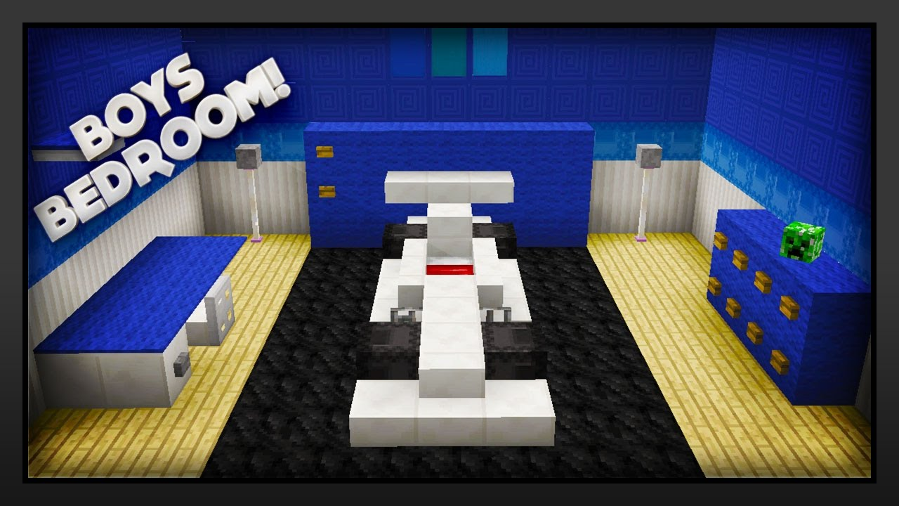 Minecraft How To Make A Boys Bedroom Youtube