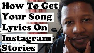 How To Get Song Lyrics onto Instagram