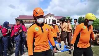 Simulasi Bencana oleh BPBD PPU di SMK Negeri 2 Penajam Paser Utara 26 april 2019