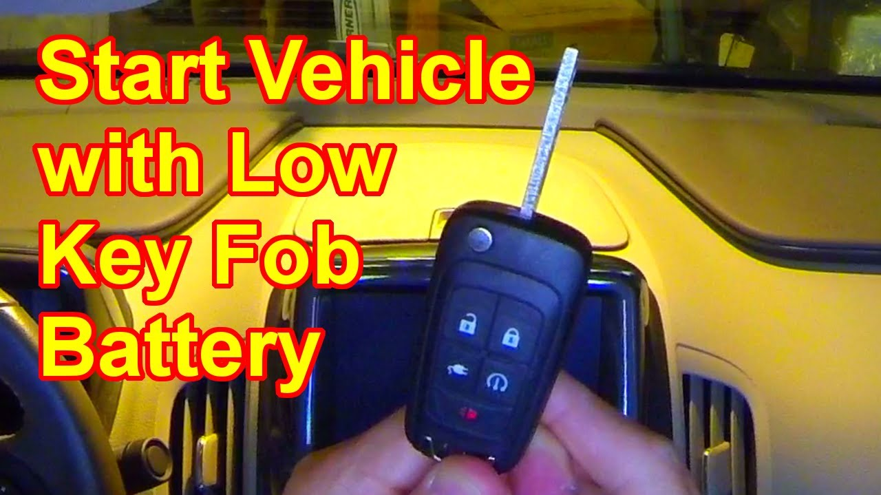 Volt Quick Tips 0035 Start Vehicle With Low Key Fob Battery Youtube