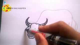 Vẽ con trâu/How to Draw  Buffalo