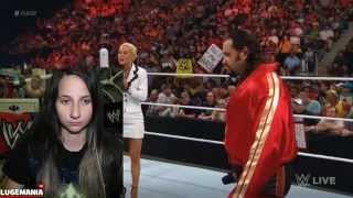 WWE Raw 5/18/15 Lana and Rusev Break UP