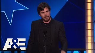 Christian Bale Wins Best Actor in a Comedy | 2016 Critics' Choice Awards | A&E