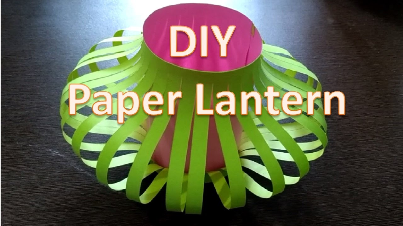 How to make Chinese paper lantern | DIY paper lamp - YouTube for Make Chinese Paper Lantern  113cpg