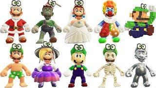 Super Mario Odyssey - All Luigi Outfits