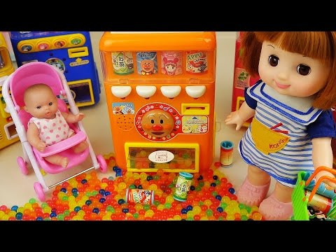 Thumbnail: Drinks Machine and Baby doll orbeez surprise eggs toys play