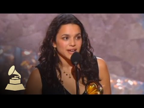Norah Jones accepting the GRAMMY for Best New Artist at the 45th GRAMMY Awards | GRAMMYs