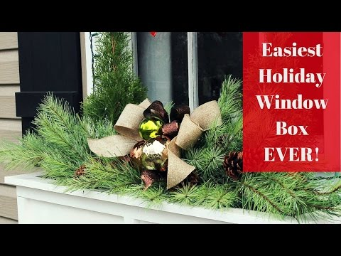 Easiest Christmas Window Box Idea Ever!