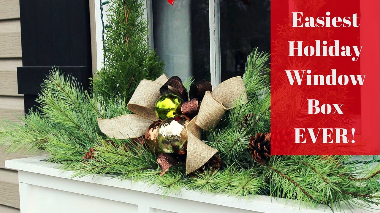 easiest christmas window box idea ever youtube - Window Box Christmas Decorations