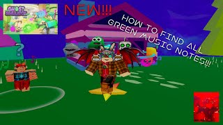 NEW! Roblox | Ghost Simulator | How to find all 5 Green Music Notes for one of Jax's Quests