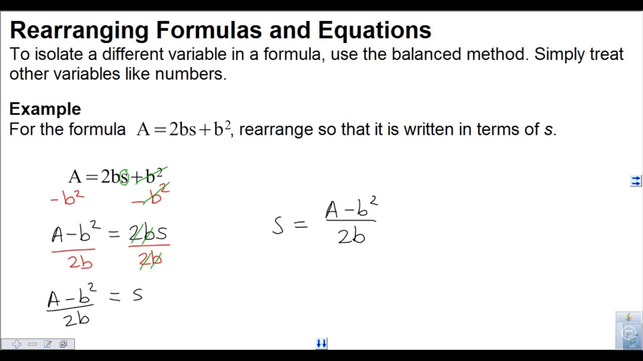 worksheet Rearranging rearranging equations and formulas youtube formulas