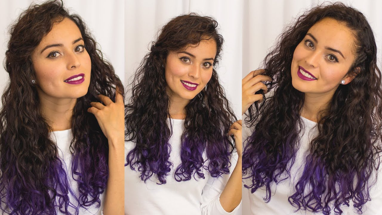 Peinados faciles para pelo largo y ondulado