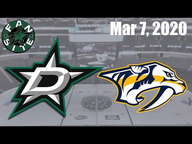 Dallas Stars vs Nashville Predators | Mar 7 2020