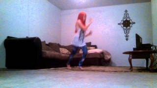 Girl dancing to disturbia