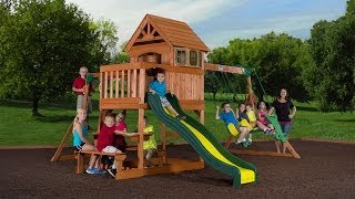 Springboro Wood Swingset