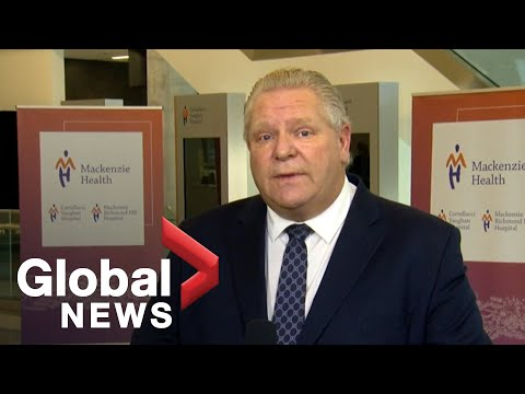 Coronavirus: Ontario to provide $125 million for over 500 critical care beds in hot-spots | FULL