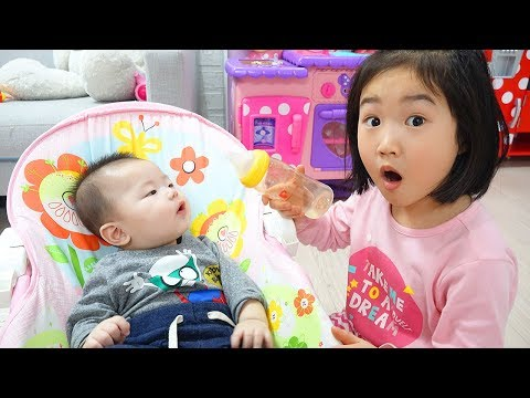 Boram take care of a baby
