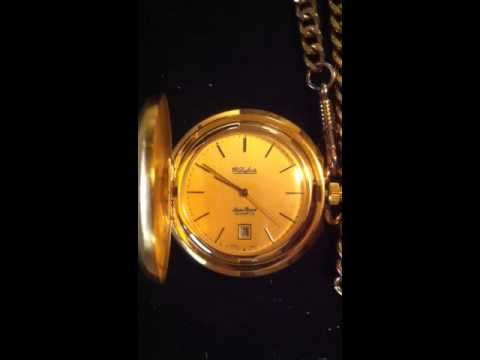 Lucien Piccard Dufonte Gold Tone Pocket Watch
