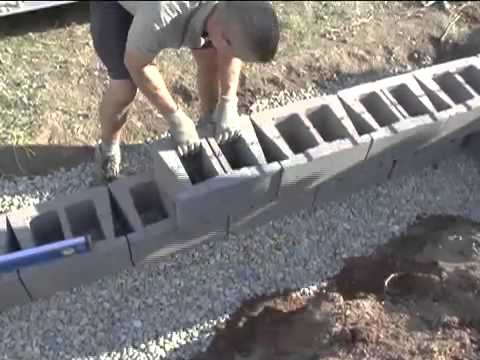 Concrete Block Retaining Wall Design image result for cinder block retaining wall design Do It Yourself Video How To Build Your Own Retaining Wall For Your Home Or Business Youtube