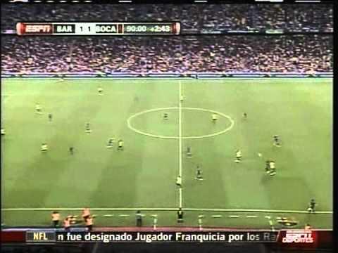 2008 (August 16) Barcelona (Spain) 2-Boca Juniors (Argentina) 1 (Trofeo Joan Gamper)
