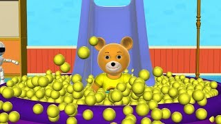 vuclip Learn Colors with Teddy Bear Baby and Balls | The Ball Pit Show for Kids