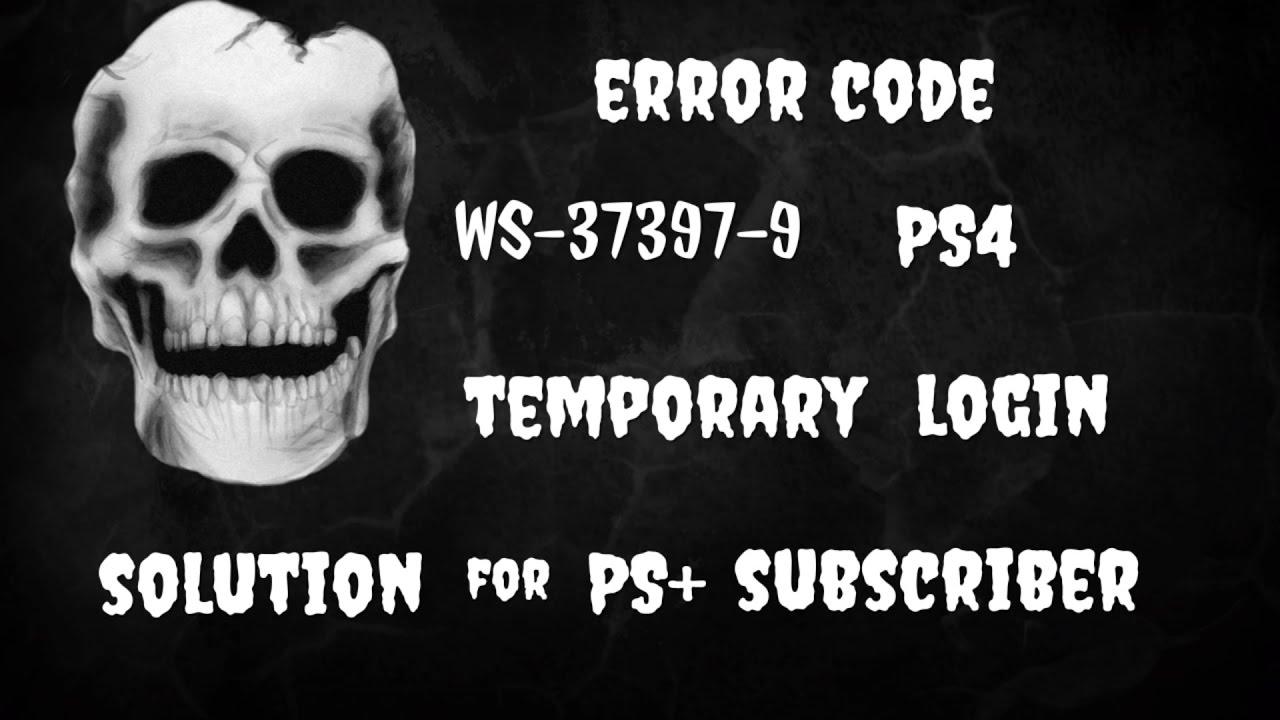 Psn Fehlercode Ws 37397 9