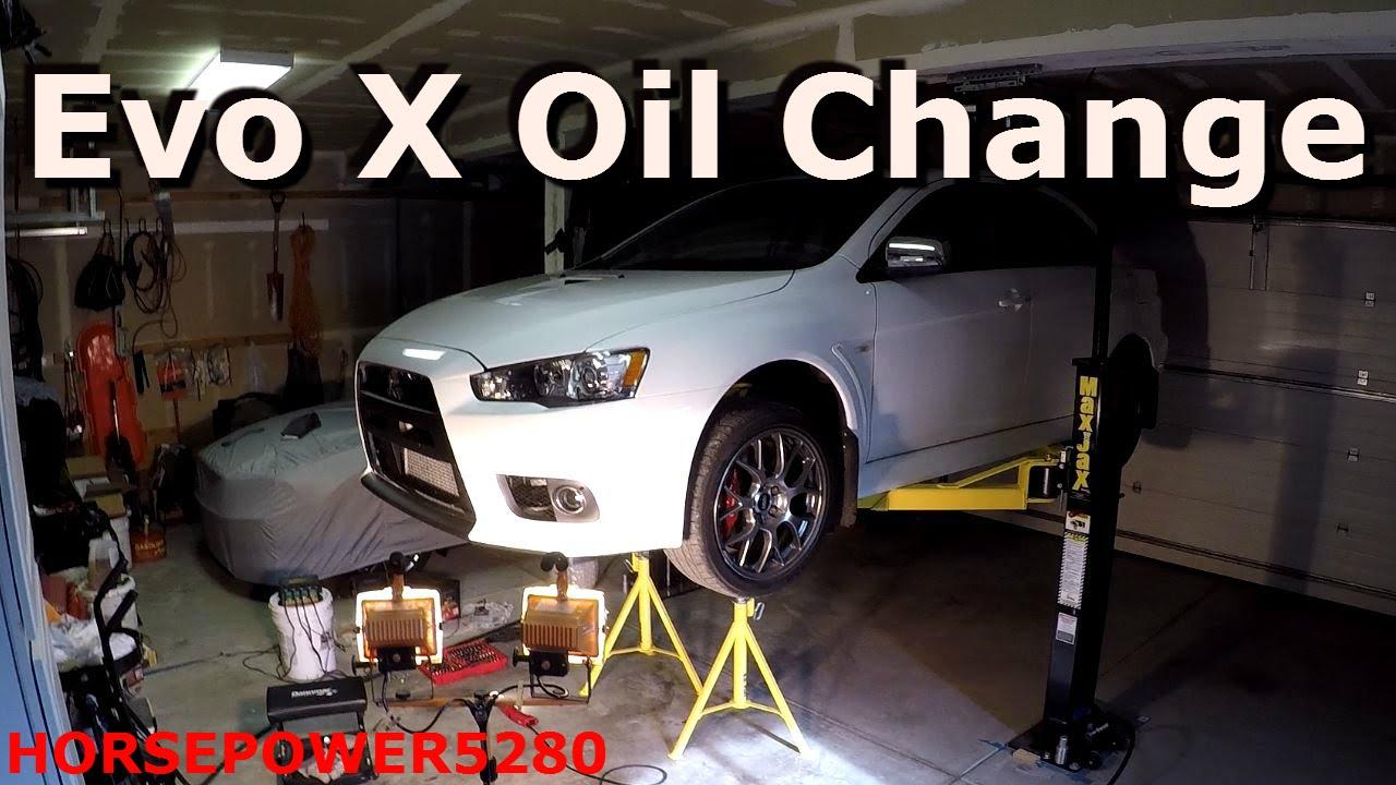 Evo X Oil Change  YouTube