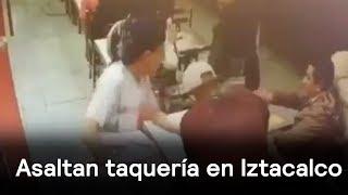 Asaltan taquería en la delegación Iztacalco - Las Noticias con Danielle