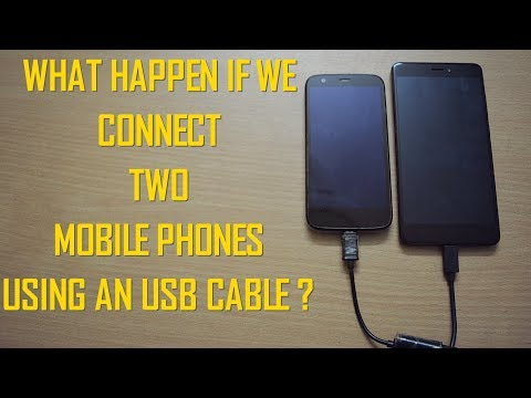 What Happen If We Connect Two Mobile Phones Using An USB Cable?