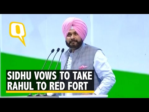 Navjot Singh Sidhu Takes Stage at the 84th Congress Plenary Session in New Delhi