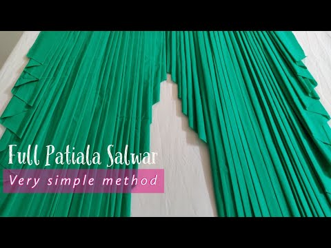 How to make patiala salwars, पटियाला सलवार की कटिंग Patiyala salwar cutting and stitching,