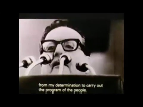 Salvador Allende Speeches and Philip Agee (Former CIA Operative) [Fixed Audio - Synchronised]