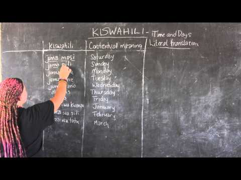Video #12 - GO! presents: BEST Swahili Tutorial - TIME & DAYS (live from Tanzania)