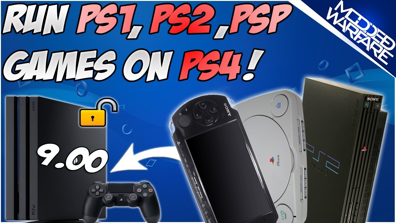 (EP 5) How to Run PS1, PS2 & PSP Games on a PS4 (7.55 or Lower!)