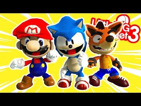 Costumes Of Mario, Sonic, Crash & More ! - LittleBigPlanet 3   EpicLBPTime