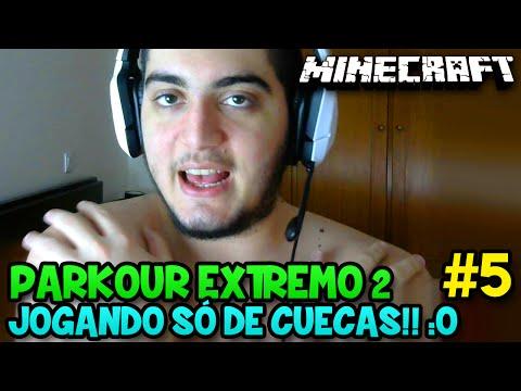 JOGANDO SÓ DE CUECAS!! :O - Minecraft: PARKOUR EXTREMO 2 #5