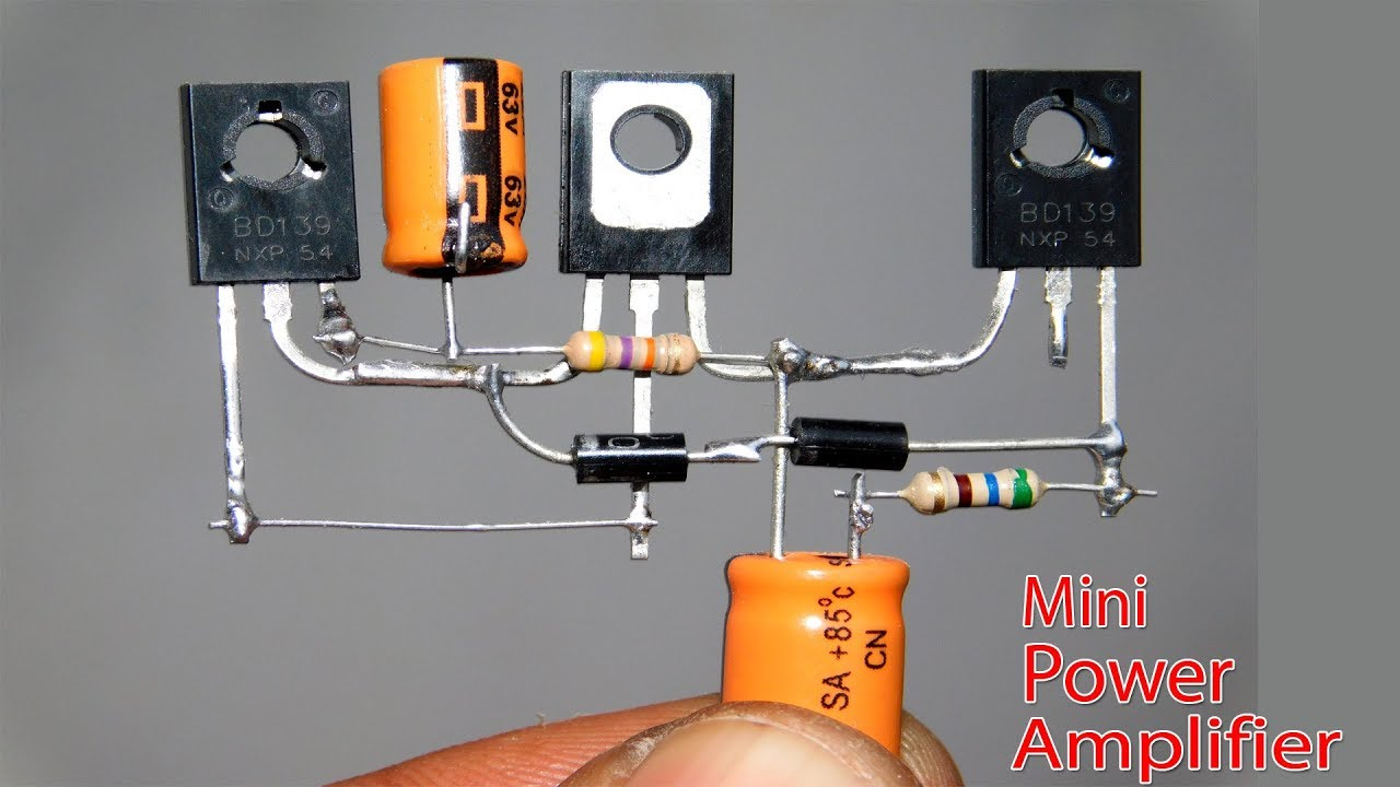 Mini Power Audio Amplifier Circuit Using 3 Transistor Youtube 100wvariableresistorsimulator Amplifiercircuit