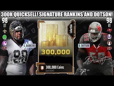 300K QUICKSELL! SIGNATURE SHELDON RANKINS AND DOTSON! | MADDEN 18 ULTIMATE TEAM