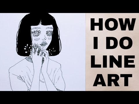 HOW I INK MY ILLUSTRATIONS