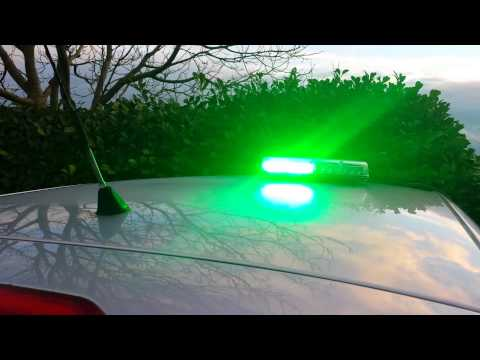 Green 28 LED Magnetic Mini Flashing Lightbar