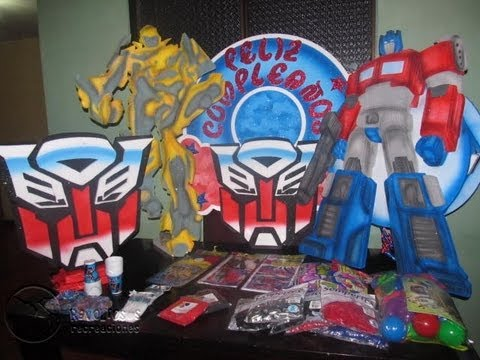 Decoracion Fiesta Tematica Transformers Youtube