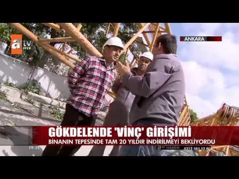 Ankara'nın Gökdelen'deki Vinç İndirildi...Malatya Yunuslar Vinç Atv Haber