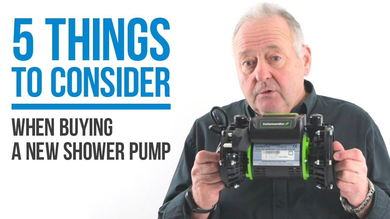 5 things to consider when buying or replacing your shower pump + PUMP GIVEAWAY