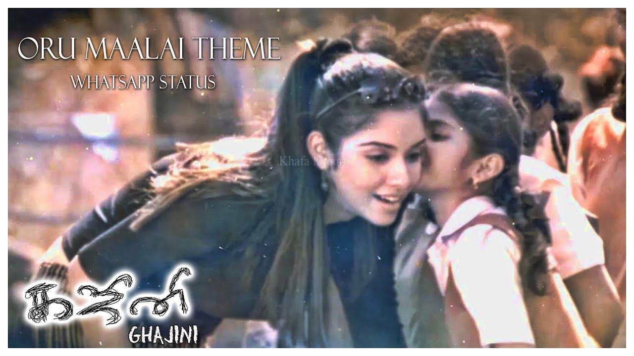 Oru Maalai - Whatsapp Status | Ghajini Tamil Movie | Harris Jayaraj | 2 |  Theme Music